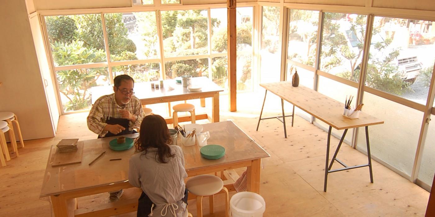 信楽_Ogama陶芸教室の風景04