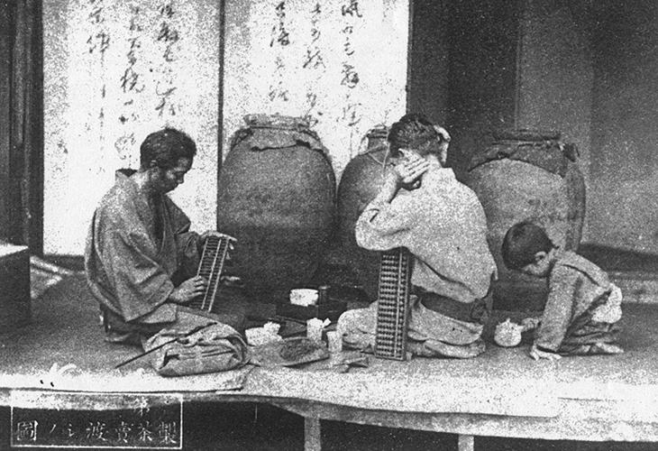 茶壺-人写真