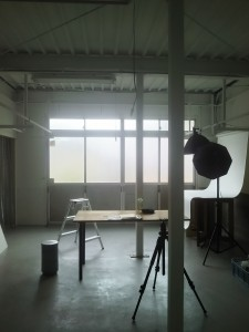 工場の撮影室